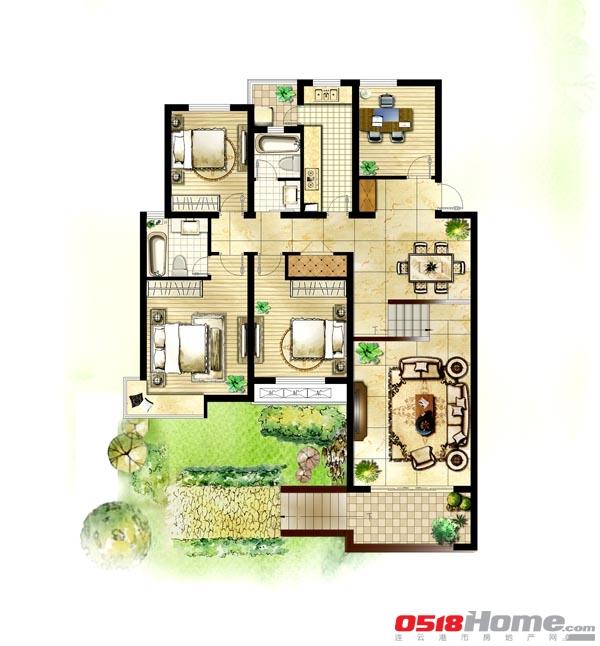 7x9米农村房屋平面图