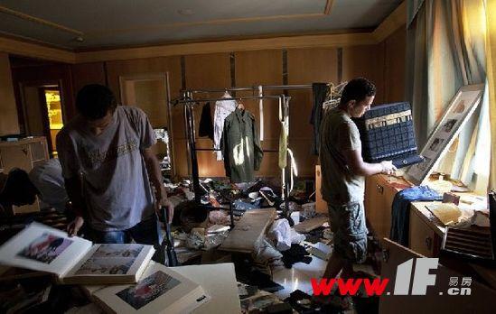 卡扎菲及家人豪宅内部奢华照曝光